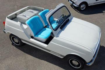 经典再现,雷诺制作经典4系敞篷车电动版,竟完全依照旧车设计