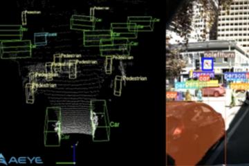全球首款!AEye发布自动驾驶汽车传感器商用2D3D感知软件