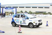 御捷新能源E行征战2017中国新能源汽车拉力锦标赛