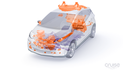 前瞻技术,通用自动驾驶汽车,通用自动驾驶电动汽车