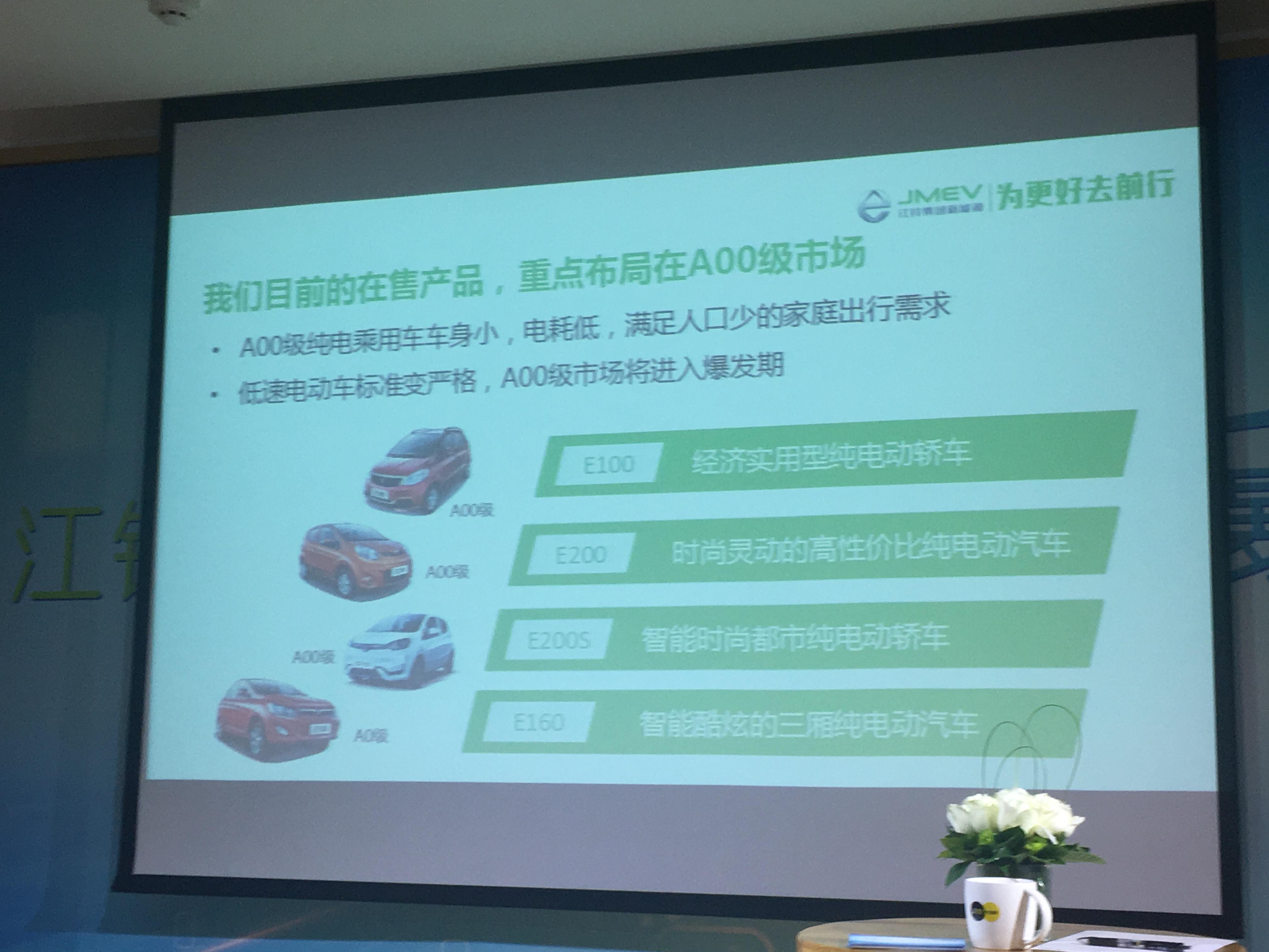 江铃新能源汽车战略规划公布:2020年目标销量10万辆