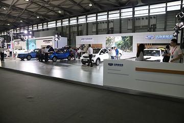 2017未来汽车展:吉利帝豪EV300/帝豪PHEV/远景EVmini 登录车展