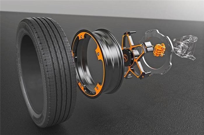 轻量化,电动汽车,黑科技,前瞻技术,大陆电动车概念车轮,大陆电动车概念制动器,大陆新概念车轮