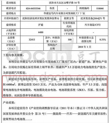 沈阳环保局对扩建项目的公告(图片来源于网络)