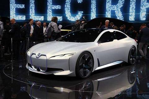 法兰克福车展宝马展出的电动概念车