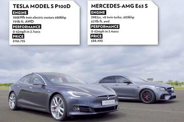 奔驰E63 AMG与特斯拉Model S P100D互飚:零百加速谁更快?