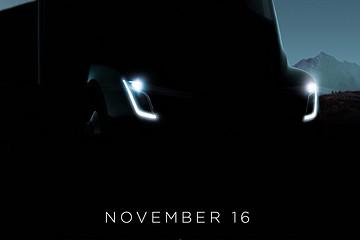 特斯拉电动卡车最新照片曝光,锁定11月16日发布