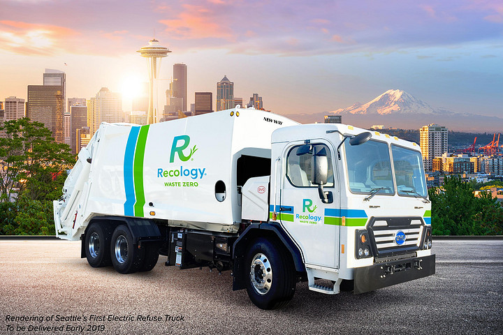 """西雅图首台!比亚迪""""垃圾车""""再次赢得美国订单"""