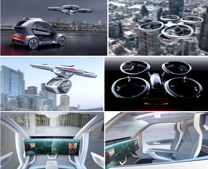 电动汽车,黑科技,新车,前瞻技术,热点车型,奥迪Pop.Up Next飞行车,奥迪飞行车日内瓦,奥迪电动飞行车,2018日内瓦车展