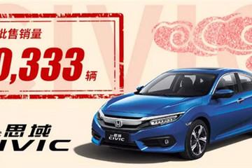 东风本田前两月批售量达10.7万辆