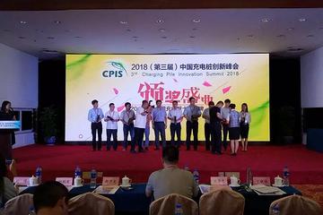 """鼎充荣获""""2018中国充电桩十大品牌""""奖"""