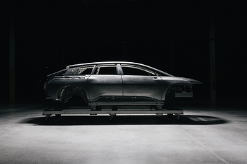 FF 91首台白车身完成 汉福德工厂已启动整车组装