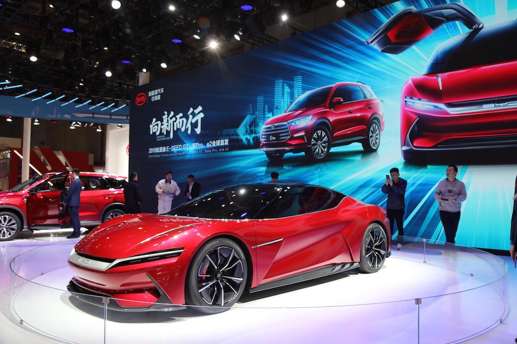 运动美学与性能的完美结合 比亚迪上海车展首发概念跑车E-SEED GT