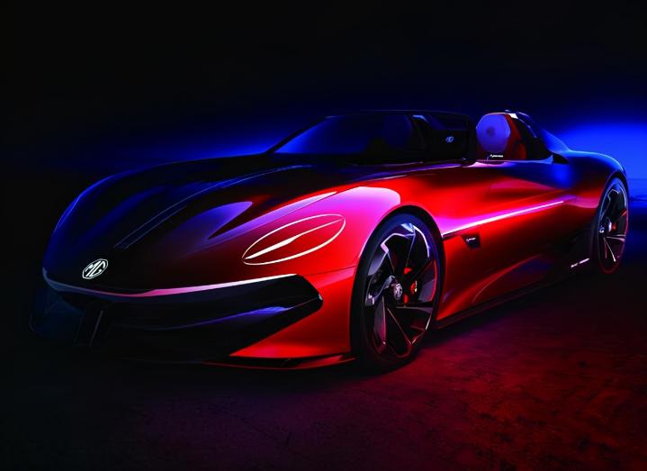 名爵概念电动轿跑曝光,续航800公里,预计上海车展亮相