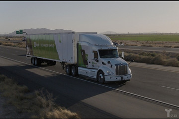 图森未来在美发布L4级自动驾驶卡车,年内将在亚利桑那州上路测试
