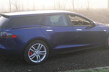 把特斯拉 Model S 从轿车改成猎装版 总共分几步?