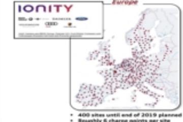 IONITY欧洲电动车充电网络布局图亮相