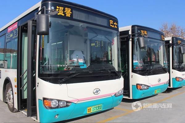 海格纯电巴士青岛温馨开跑