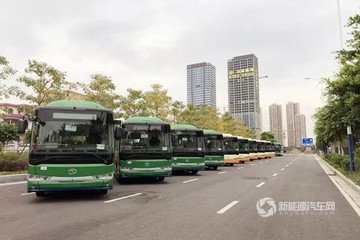 189辆金龙客车纯电动公交开赴广东佛山