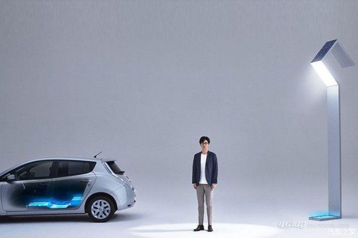 日产:推出电动车废旧电池供电新型路灯