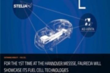佛吉亚在汉诺威展示高压储氢系统及燃料电池堆栈