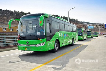山东烟台:长岛县举行50辆纯电动公交启动仪式