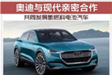 奥迪与现代亲密合作,共同发展氢燃料电池汽车