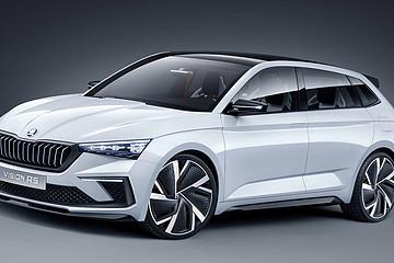 新能源小钢炮斯柯达 Vision RS 概念车亮相