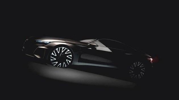 Model S P100D 迎来对手?奥迪四门轿跑 e-tron GT 即将亮相
