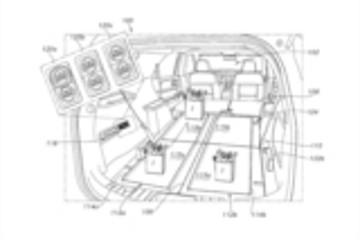 福特新专利:二三排座椅放倒变成传送带