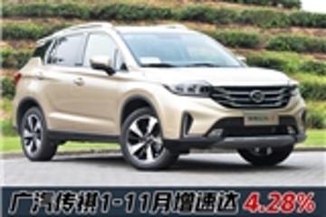 广汽传祺创11月销量新高!GS4 SUV累计超22万辆