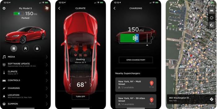 特斯拉app添加汽车充电功能选项 可显示附近可用充电站