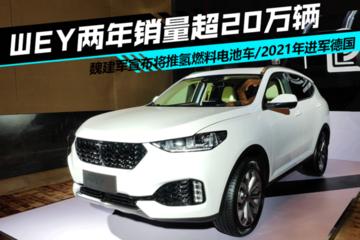 WEY两年销量超20万辆 魏建军宣布将推氢燃料电池车