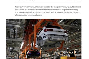 主要汽车出口国计划针对美国的关税威胁召开会议