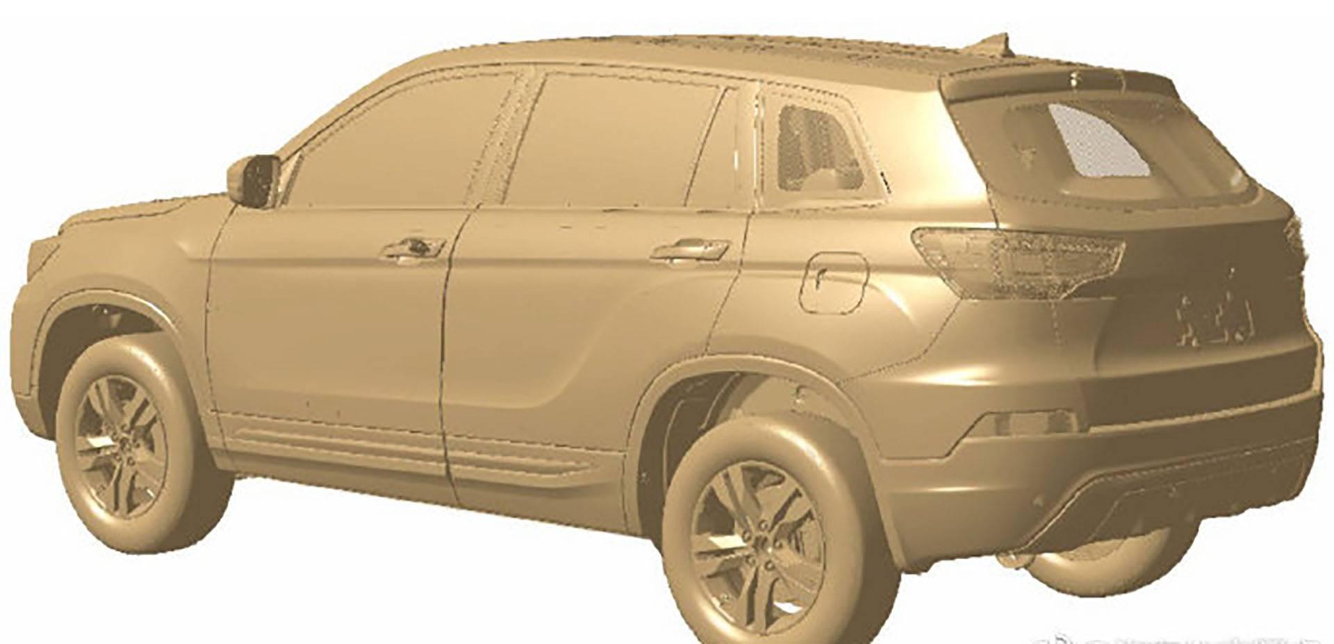 博郡汽车首款车型专利图曝光 定位5座纯电动SUV