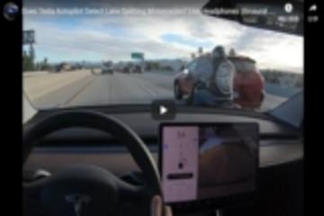 特斯拉车载系统可识别自行车 可为驾驶员发送变道警示