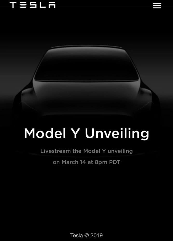 特斯拉宣布3月15日发布Model Y ,国产价格有惊喜