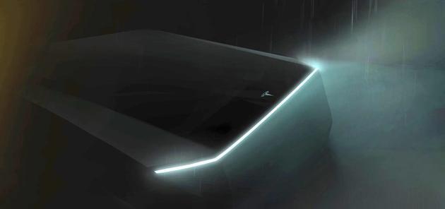 马斯克披露特斯拉新款电动皮卡车预告图