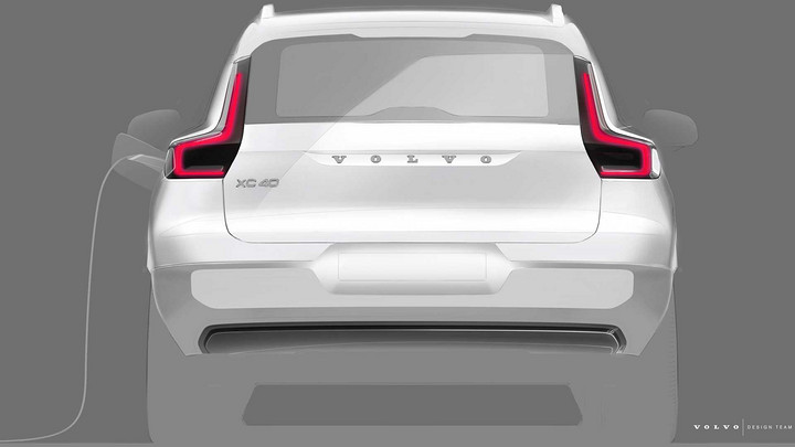 沃尔沃首款纯电动车型 纯电动版XC40预告图发布