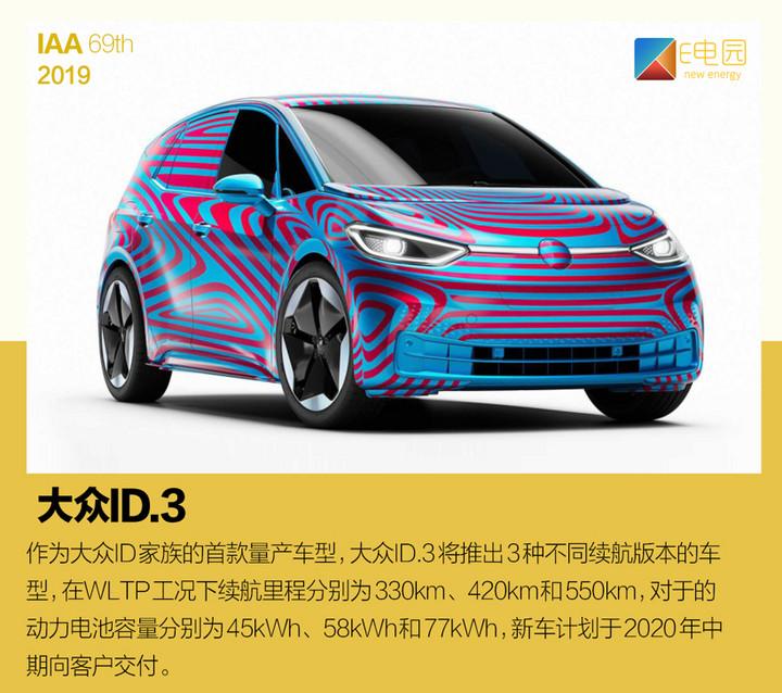 电动汽车,法兰克福车展,法兰克福车展十大新能源汽车