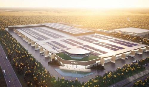 特斯拉柏林超级工厂宣布已满一年 目前4栋厂房正在建设