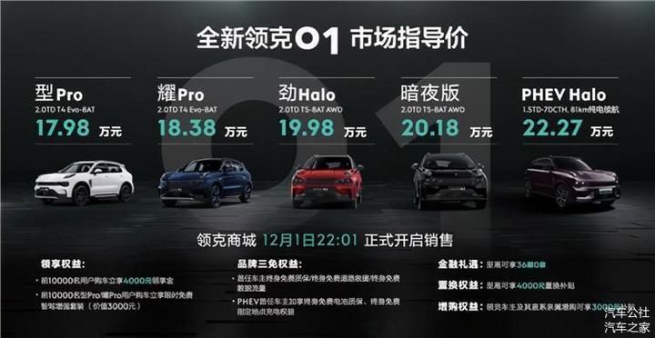 把车越卖越贵,全新领克01为何可以这样?