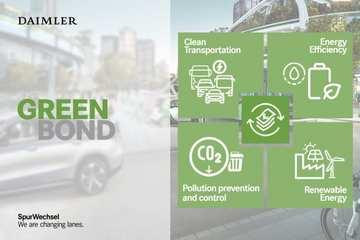 30亿欧元!戴姆勒大众首发绿色债券