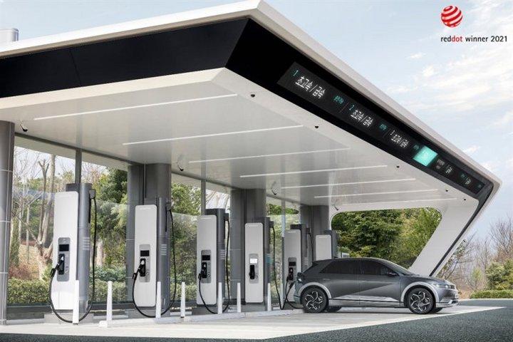 电动汽车,现代电动汽车,现代充电站