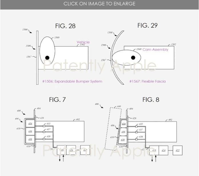 苹果公司获可伸缩保险杠系统专利 减少碰撞损害和占用空间