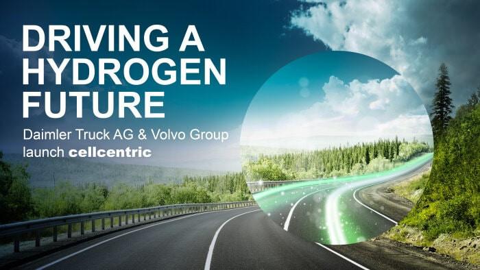 前瞻技术,戴姆勒,沃尔沃集团,燃料电池合资企业cellcentric,氢燃料电池,长途卡车,2050年可持续运输和碳中和