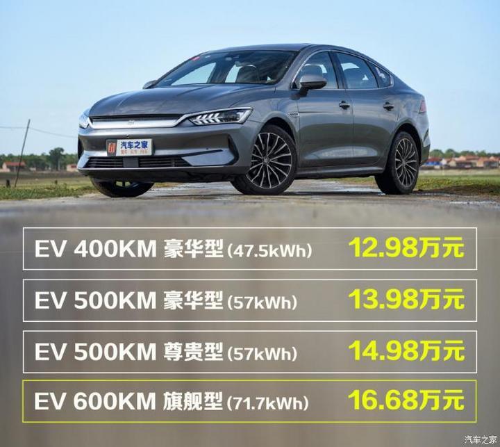 比亚迪 秦PLUS 2021款 EV 600KM 旗舰型