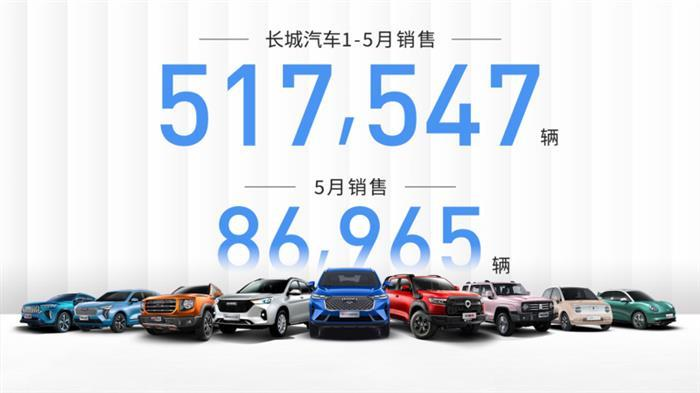 销量,<a class='link' href='http://car.d1ev.com/0-10000_0_0_0_0_0_0_0_0_0_0_0_0_481_0_0_3_0.html' target='_blank'>长城</a>汽车,长城汽车,5月汽车销量