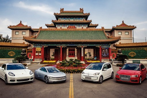 大众集团的四款新能源汽车在中国举行开放日活动